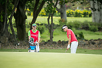 Yanwei Liu (CHA) during the 3rd round of the AfrAsia Bank Mauritius Open, Four Seasons Golf Club Mauritius at Anahita, Beau Champ, Mauritius. 01/12/2018<br /> Picture: Golffile | Mark Sampson<br /> <br /> <br /> All photo usage must carry mandatory copyright credit (&copy; Golffile | Mark Sampson)