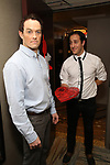 """Patrick Cummings and Jordan Sobel during a photo shoot for """"Fiercely Independent"""" at the Hilton Garden Inn on February 12, 2019 in New York City."""