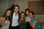 All My Children's Chrishell Stause - Adam Mayfield - Natalie Hall - Brittany Allen - Melissa Claire Egan at Marcia Tovsky's Holiday/Bon Voyage Party for AMC on December 1, 2009 at Nikki Midtown, New York City, New York. (Photo by Sue Coflin/Max Photos)