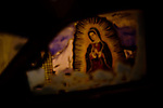 Images from Denver's Latino dominated west side on a snowy night.  Although the city itself is roughly 30% Latino, the western fringe of the city comes in at nearly 70%, a eclectic blend of stores and murals catering to the Spanish-speaking demographic.