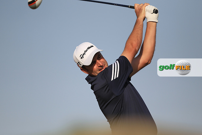 Richard Bland (ENG) on the 3rd tee during round one of the Abu Dhabi HSBC Golf Championship in the Abu Dhabi golf club, Abu Dhabi, UAE..Picture: Fran Caffrey/www.golffile.ie.