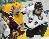 Ryan Stoa, Zach Jones - The University of Minnesota Golden Gophers defeated the University of North Dakota Fighting Sioux 4-3 on Saturday, December 10, 2005 completing a weekend sweep of the Fighting Sioux at the Ralph Engelstad Arena in Grand Forks, North Dakota.