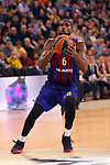Turkish Airlines Euroleague 2018/2019. <br /> Regular Season-Round 24.<br /> FC Barcelona Lassa vs R. Madrid: 77-70. <br /> Chris Singleton.