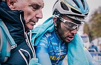Rémy Di Grégorio  (FRA/Delko Marseille Provence KTM) post-race<br /> <br /> 76th Paris-Nice 2018<br /> Stage 7: Nice > Valdeblore La Colmiane (175km)