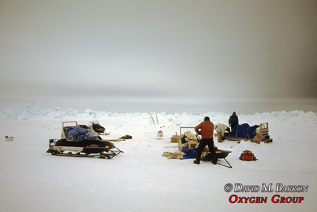 Packing Gear During Rescue From Broken Off Floating Ice Sheet