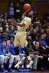 31 December 2014: Wofford's Karl Cochran. The Duke University Blue Devils hosted the Wofford College Terriers at Cameron Indoor Stadium in Durham, North Carolina in a 2014-16 NCAA Men's Basketball Division I game.