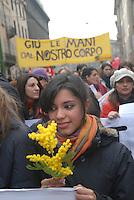 - Milan, March 8 2008, International Women's Day, demonstration in defense of law 194 on the abortion....- Milano, 8 marzo 2008, Festa della Donna, manifestazione in difesa della legge 194 sull'aborto