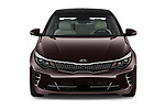 Car photography straight front view of a 2017 KIA Optima SX Limited AT 4 Door Sedan