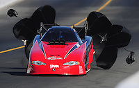 Jul. 24, 2009; Sonoma, CA, USA; NHRA funny car driver Jeff Diehl during qualifying for the Fram Autolite Nationals at Infineon Raceway. Mandatory Credit: Mark J. Rebilas-