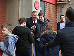 Chris Wilder manager of Sheffield Utd has a picture taken with a fan during the championship match at the Bramall Lane Stadium, Sheffield. Picture date 14th April 2018. Picture credit should read: Simon Bellis/Sportimage