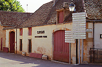 The Pommard village, with wine shop and many signs indicating several wine producers