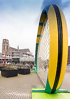 Netherlands, Januari 6, 2017, Rotterdam, City Center, ABNAMROWTT exposure in town<br /> Photo: Henk Koster