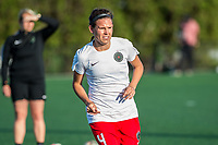 Boston, MA - Friday May 19, 2017: Emily Menges during a regular season National Women's Soccer League (NWSL) match between the Boston Breakers and the Portland Thorns FC at Jordan Field.