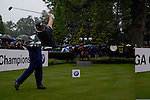 Ernie Els drives off on the opening hole during the final round of the BMW PGA Championship at Wentworth Club, Surrey, England 27th May 2007 (Photo by Eoin Clarke/NEWSFILE)