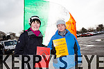Attending the Water Charges Protest at the Brandon car park Tralee on Saturday were Margie O Conner and Helen O Keeffe from Tralee