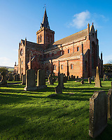 St. Magnus Cathedral and cemetery, Kirkwall, Orkney, Scotland