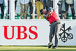 Prom Meesawat of Thailand tees off the first hole during the 58th UBS Hong Kong Golf Open as part of the European Tour on 10 December 2016, at the Hong Kong Golf Club, Fanling, Hong Kong, China. Photo by Marcio Rodrigo Machado / Power Sport Images