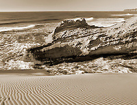 Dunes and rocks at Cape Kiwanda. Pacific City, Oregon.