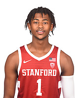Stanford, Ca - October 3, 2019: The 2019-2020 Stanford Cardinal Men's Basketball Team.