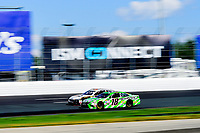 July 16, 2017 - Loudon, New Hampshire, U.S. -  Kyle Busch, Monster Energy NASCAR Cup Series driver of the Interstate Batteries Toyota (18), races along side Landon Cassill,driver of the MDS Transport Ford (34), at the NASCAR Monster Energy Overton's 301 race held at the New Hampshire Motor Speedway in Loudon, New Hampshire. Eric Canha/CSM