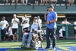 New Orleans Saints 2017 Black and Gold Softball game benefitting Son of a Saint and Team Gleason.  The game was played at Greer Field at Turchin Stadium on the campus of Tulane University.