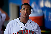 Indianapolis Indians Ke'Bryan Hayes (24) during an International League game against the Syracuse Mets on July 17, 2019 at Victory Field in Indianapolis, Indiana.  Syracuse defeated Indianapolis 15-5  (Mike Janes/Four Seam Images)