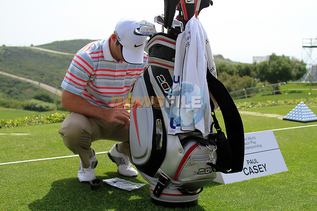 Paul Casey (ENG) in action on the practice range during Day 1 of the Volvo World Match Play Championship in Finca Cortesin, Casares, Spain, 19th May 2011. (Photo Eoin Clarke/Golffile 2011)