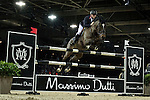 Joe Clee on Vedet de Muze E T competes during Massimo Dutti Trophy  at the Longines Masters of Hong Kong on 21 February 2016 at the Asia World Expo in Hong Kong, China. Photo by Juan Manuel Serrano / Power Sport Images