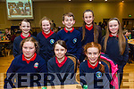 Pictured at the Tralee Credit Union Schools Quiz Brandon hotel on Sunday were Carla Stack, Oisin O'Sullivan, Dora Daly, Claudia Crowley, Clodagh O'Sullivan, Lena Daly, Lynda O'Connor and Niamh Horgan from Listellick NS Tralee