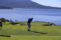 Gerry McManus (IRL) tees off the par3 7th tee at Pebble Beach course during Friday's Round 2 of the 2018 AT&amp;T Pebble Beach Pro-Am, held over 3 courses Pebble Beach, Spyglass Hill and Monterey, California, USA. 9th February 2018.<br /> Picture: Eoin Clarke | Golffile<br /> <br /> <br /> All photos usage must carry mandatory copyright credit (&copy; Golffile | Eoin Clarke)