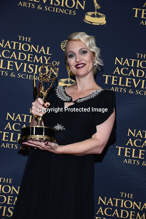 Glenda Maddox winner for B and B Costume designer attends the Daytime Emmy Creative Arts Awards Press Room on April 24, 2015 at the Universal l Hilton in Universal City,<br /> California, USA.