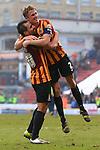 Filipe Morais and Stephen Darby of Bradford celebrate - Bradford City vs. Sunderland - FA Cup Fifth Round - Valley Parade - Bradford - 15/02/2015 Pic Philip Oldham/Sportimage