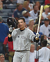 Masahiro Tanaka (Yankees), AUGUST 28, 2015 - MLB : Masahiro Tanaka of the New York Yankees reacts in his first at-bat in the second inning during the Major League Baseball Interleague game against the Atlanta Braves at Turner Field in Atlanta, Georgia, United States. (Photo by AFLO)