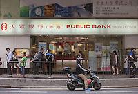 An exterior shot of Public Bank, Central district, Hong Kong, China, 28 April 2014.