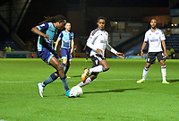 Marcus Bean of Wycombe Wanderers puts in a cross during the Carabao Cup match between Wycombe Wanderers and Fulham at Adams Park, High Wycombe, England on 8 August 2017. Photo by Alan  Stanford / PRiME Media Images.