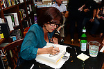CORAL GABLES, FL - OCTOBER 06: Author Raquel Roque greets fans and signs copies of 'Cocina latina' at Books and Books on October 6, 2013 in Coral Gables, Florida. (Photo by Johnny Louis/jlnphotography.com)