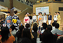 June 1st, 2011, Tokyo, Japan - Models sport traditional Japanese summer robes during a Super Cool Biz fashion show at a Tokyo department store on Wednesday, June 1, 2011. The show was sponsored by the Environment Ministry in its campaign, encouraging the Japans white-collar workforce to shed off their business suits and ties for more casual and laidback clothes - a de facto summer dress code. The office thermostat throughout the country will be set at a steamy 28 degrees Celsius due to a government decree to cut electricity usage by 15% thanks to the crippled nuclear power plant.(Photo by Natsuki Sakai/AFLO) [3615] -mis-.