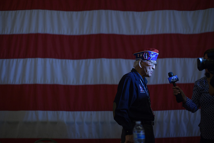 "Lawson Sakai, a soldier in the 442nd Regimental Combat Team during World War II, is being interviewed by ABC News Bay Area. The ""Go For Broke"" 442nd, a segregated Japanese American unit, became the most decorated unit in U.S. military history for its size and length of service."