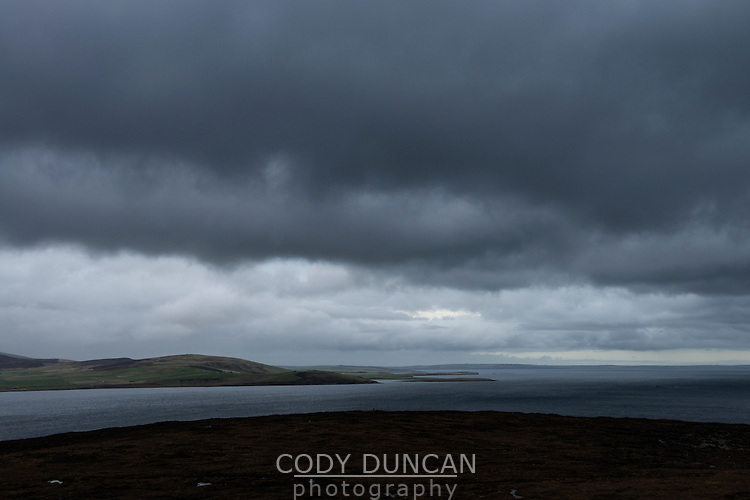 View from Hoy across Scapa Flow towards Orkney Mainland, Scotland