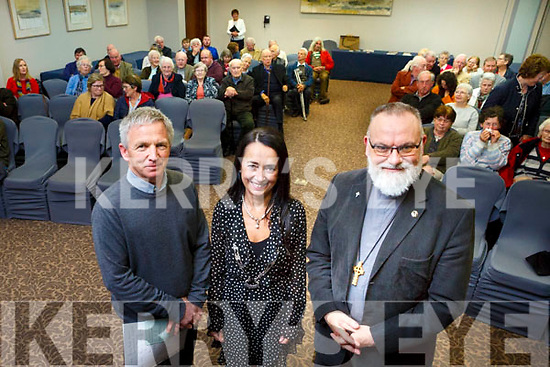 Kerry Archaeological & Historical Society hosted a lecture entitled 500 years after Martin Luther: The Reformation and its legacy in Kerry.The talk will be delivered by Rev Simon J Lumby, Archdeacon of Aghadoe, Ardfert and Limerick and Rector of St Mary's Church of Ireland, Killarney. Pictured here with Marie O'Sullivan, Society President and David Tuff