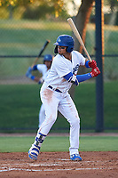 AZL Dodgers Mota Imanol Vargas (30) at bat during an Arizona League game against the AZL Rangers at Camelback Ranch on June 18, 2019 in Glendale, Arizona. AZL Dodgers Mota defeated AZL Rangers 13-4. (Zachary Lucy/Four Seam Images)