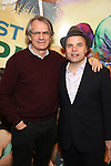 Bartlett Sher and J.T. Rogers attends the press reception for the Opening Night of the Lincoln Center Theater Production of 'The Babylon Line'  at the Mitzi E. Newhouse Theatre on December 5, 2016 in New York City.