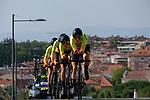 Ale Cipollini team in action during Stage 1 of the Madrid Challenge by La Vuelta, a team time trial running 12.6km from Boadilla del Monte to Boadilla del Monte, Spain. 15th September 2018.                   <br /> Picture: Unipublic/Vicent Bosch | Cyclefile<br /> <br /> <br /> All photos usage must carry mandatory copyright credit (&copy; Cyclefile | Unipublic/Vicent Bosch)