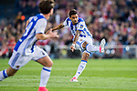 Willian Jose da Silva of Real Sociedad in action during their La Liga match between Atletico de Madrid vs Real Sociedad at the Vicente Calderon Stadium on 04 April 2017 in Madrid, Spain. Photo by Diego Gonzalez Souto / Power Sport Images