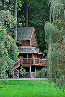 The Canopy Cathedral treehouse at Longwood Gardens, Pennsylvania, USA