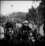 Motorcycles are a popular transportation middle. They are cheaper than cars and with the amount of traffic jams in most Indonesian cities it is easier to go from one place to another. During political rallies motorcycle drivers tour the cities while they are blowing their horns. .