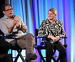 Kurt Deutsch and Bonnie Comley on stage during Broadwaycon at New York Hilton Midtown on January 11, 2019 in New York City.