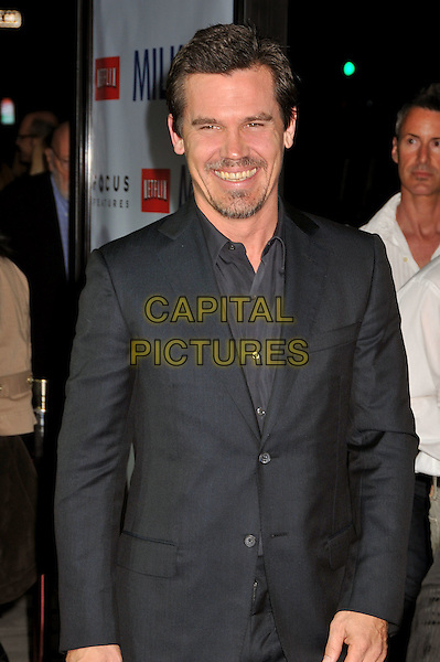 "JOSH BROLIN.""MILK"" Los Angeles Premiere at the Academy of Motion Picture Arts and Sciences, Beverly Hills, California, USA..November 13th, 2008.half length grey gray suit jacket goatee stubble facial hair .CAP/ADM/BP.©Byron Purvis/AdMedia/Capital Pictures."