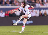 , FL - : Rose Lavelle #16 of the United States takes a shot during a game between  at  on ,  in , Florida.