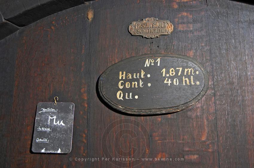 muscat sign on tank fruhinsholz schiltigheim dom frederic mochel traenheim alsace france
